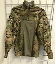 Multicam Army Combat Shirt Type II ACS MEDIUM Flame Resistant 1/4 Zippered NWOT