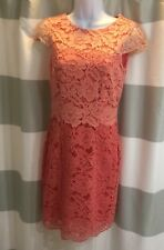 Antonio Melani Pink Coral Lace Pencil Sheath Dress. Size 2. Worn once!