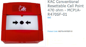 CALL POINT, RED 470 OHM  MCP1A-R470SF-01 EN54-11 TYPE A , INDOOR USE Fire Allarm
