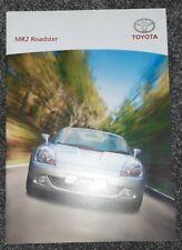 Toyota Mr2 Uk Sales Brochure Mk3 English 2005 prospekt car market track race