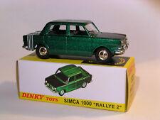 Simca 1000 RALLY 2 prototype ref 520 + certificate to the 1/43 dinky toys atlas