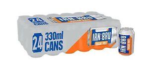 IRN-BRU Sugar Free Fizzy Drink Cans, 330ml, (Pack of 24)
