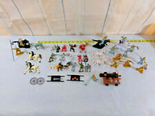 Mixed Lot Knights & Horses Canon Plus~~ Figures Medieval  Plastic Toys Soldiers