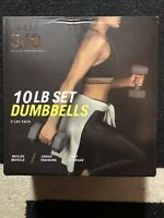 NEW Flo 360 10LB Gray Dumbbell Set (5 LBs x 2) Weights Yoga Workout Exercise Gym