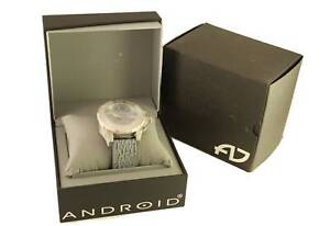 New in Box Mens Jewelry Android Divemaster Silverjet 500 GMT AD547 Quartz Watch