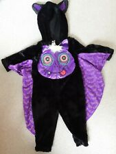Boy's Halloween Black Bat Fancy Dress Outfit by George for Ages 12-18 Months