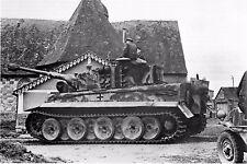 WW2 - Villers Bocage Eté 44 - Char Tigre E 1ère Cie  Panzer Abteilung 101