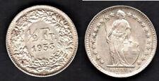 SUISSE  1/2 FRANC 1953  SPL / A. UNC