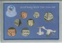 New Born Baby Boy Coin Gift Set 2008 (Parent Mum & Dad Birth Keepsake Present)