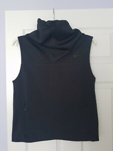Nike Therma Fit Training Running Mock Neck Pull on Black Vest Women's Size M