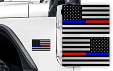 THIN BLUE RED LINE AMERICAN FLAGS Stickers | Jeep Fender Flag Decals Police K-9