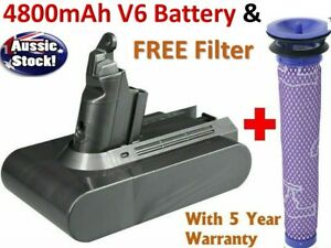 4800mA Battery For Dyson V6 SV03 SV04 SV05 SV06 DC58 DC59 DC61 DC62 + FILTER