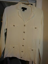 """MY FAVORITE THINGS BY COLLEEN LOPEZ""""White w/Collar,Button Front Jacket"""" Size 1X"""