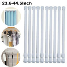 Tension Curtain Rod Spring Load Adjustable Metal Curtain Pole Heavy-Duty Steel
