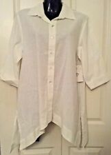 SIZE 12 WOMEN'S WHITE SHORT SLEEVE 'CARLA SPRING' BUTTON DOWN SHIRT BNWT