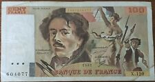 Billet 100 francs Eugène DELACROIX 1987 FRANCE  X.120