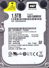 "Western Digital WD15NMVW-11AV3S2  dcm: HHKTJHB  1.5TB 2.5""  USB 3.0  B15-05"