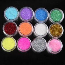 12 Mix Color Random Glitter Powder Dust Nail Art Nail Decoration For Acrylic Tip