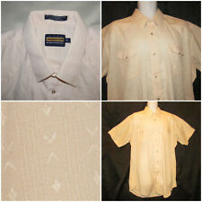 Panhandle Slim Mens XXLT 2XLT Western Peach Pearl Snap Short Sleeve Shirt Thin