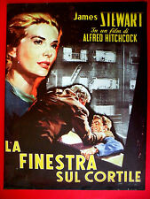 REAR WINDOW 1954 ALFRED HITCHCOCK  GRACE KELLY JAMES STEWART  POSTER ON  CANVAS