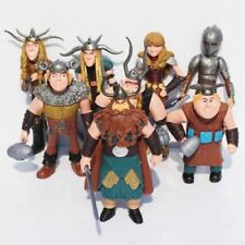 8 pcs How to Train Your Dragon Figure Hiccup Stoick Astrid Toys Collection gift