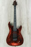 Schecter C-1 FR S Apocalypse Electric Guitar Floyd Rose Sustainiac Red Reign