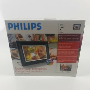 """NEW PHILIPS 7"""" Digital Picture Frame - Black. 7FF3FPB. BOXED."""