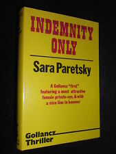 Indemnity Only by Sara Paretsky (1982-1st) First V I Warshawski Crime Thriller