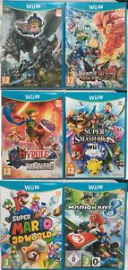 6 Wii U Game Bundle Incl. New & Sealed Wonderful 101 & Monster Hunter Ultimate 3