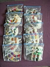 Lot Of 212 Dmc Embroidery Floss Bobbins on Rings Sorted 208 Thru 3799 New