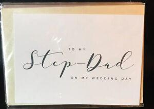 To My Stepdad On My Wedding Day Card