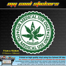 Medical Use Only Cannabis 11cm Vinyl Sticker Decal, 4X4 Ute Car marijuana weed