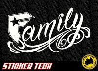 FAMOUS STARS AND STRAPS (FAMILY) VINYL STICKER DECAL SUITS 4WD 4X4 SURF CAR UTE