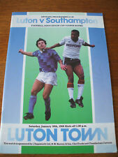 Luton Town v Southampton FA Cup 30-1-1988
