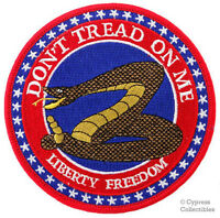 DON'T TREAD ON ME - EMBROIDERED IRON-ON PATCH new SNAKE GADSDEN AMERICAN USA