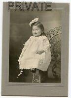 Antique Photo-HOFFMAN Family- Little Girl, Hair Bow, Necklace - Salida, Colorado