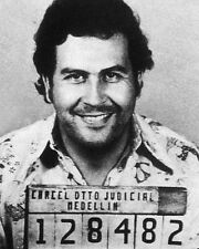 Colombian Mobster PABLO ESCOBAR Glossy 8x10 Photo Drug Lord Mugshot Print