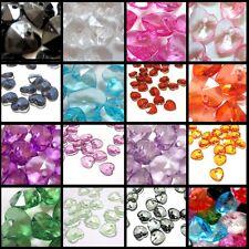 30 pieces 17x18mm Translucent Acrylic Plastic Heart Charm Pendants