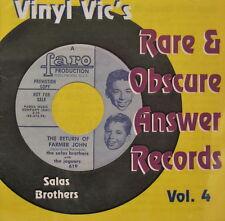 VINYL VIC'S 'Rare & Obscure Answer Records' - Vol# 4 - 30 VA Tracks
