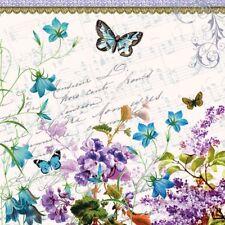 4 Servietten ~ Romantic pur  Flieder Schmetterling Blumen basteln Decoupage