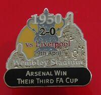 Danbury Enamel Pin Badge Arsenal Football Club v Liverpool FC FA Cup Winner 1950