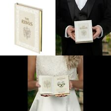 Wedding Ring Book Bearer Pillow Alternatives Ceremony Supplies Decorations White