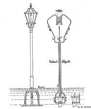 Antike Gaslaterne / Strassenlaterne: Aus der Geschichte 1877 - 1919