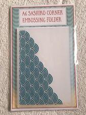 A6 Sashiko Corner Embossing Folder - sea ? pattern