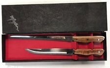"Vintage NOS Maxam CT2H Set of 2 Carving Knives One Serrated Blade 15"" Reg 13"""