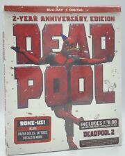Deadpool (Blu-ray+Digital, 2018; 2-Year Anniversary Ed.) NEW w/ BONE-US STUFF!