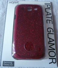 Xqisit iPlate Glamor Sparkly Red Glitter Case For Samsung Galaxy S3