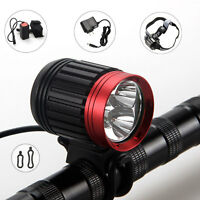 6000Lm 3x XM-L T6 LED Head Bicycle Bike Light HeadLight Lamp Headlamp Torch