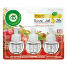 Air Wick Scented Oil Air Freshener, Apple Cinnamon Medley ,Triple Refills 3ea