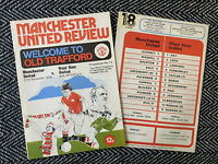 Manchester United v West Ham United 1976 Programme! FREE UK POSTAGE! LAST TWO!!